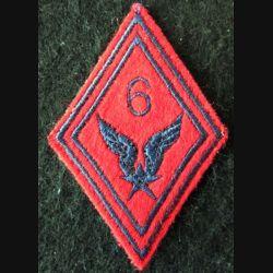 LOSANGE DE BRAS MODÈLE 45 : 6° RHC ALAT (Artillerie) modèle troupe