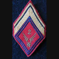 LOSANGE DE BRAS MODÈLE 45 : Sergent ADL du 2° RHC ALAT (Artillerie)
