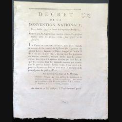 Décret de la Convention nationale n° 1325 du 29 Juillet1793 révision de jugements en matière criminelle