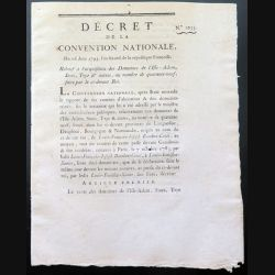 Décret de la Convention nationale N° 1055 du 16 juin 1793 relatif à l'acquisition de 49 domaines