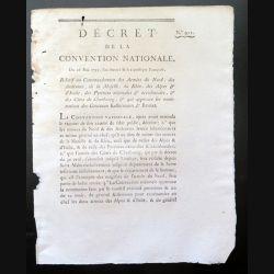 Décret de la Convention nationale N° 911 du 26 mai 1793 relatif à la nomination des Généraux kellermann et Brunet