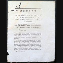 Décret de la Convention nationale N° 806 du 23 mai 1793 concernant une adresse de la convention aux armées de la République