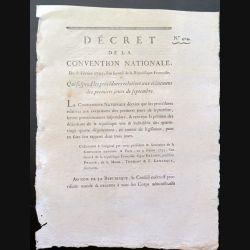 Décret de la Convention nationale N° 404 du 8 février 1793 qui suspend les procédures ..