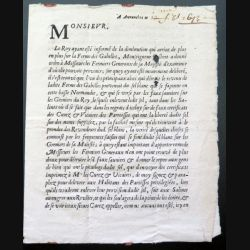 Arrêt du 13/08/1672 relatif à la diminution sur la Ferme des Gabelles suite au détournement du sel blanc