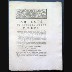 Arrests du conseil d'Etat du Roi relatif à la saisie de faux tabac ... 1768 1769