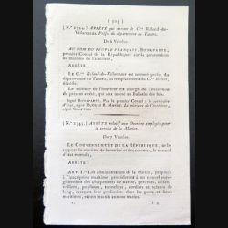 Arrêté n° 2344, n° 2345 relatif aux ouvriers employés par le service de la Marine, n°2346 et n°2347 (incomplet)