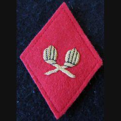 LOSANGE DE BRAS MODÈLE 45 :  modèle officiers du Service des essences des armées SEA en cannetille