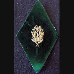 LOSANGE DE BRAS MODÈLE 45 :  officiers pharmacien du Service de santé des armées SSA cannetille sur velours