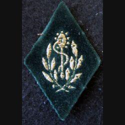 LOSANGE DE BRAS MODÈLE 45 :  sous-officier dentiste du Service de santé des armées sur velours vert