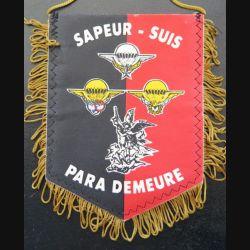 17° RGP : fanion les Caporaux chefs du 17° régiment du génie parachutiste  13 x 10 cm