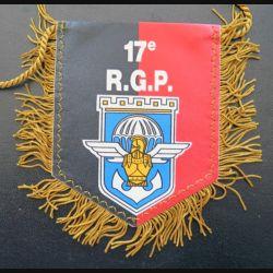17° RGP : petit fanion du 17° régiment du génie parachutiste  8 x 10 cm