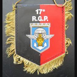 17° RGP : fanion du 17° régiment du génie parachutiste  13 x 10 cm
