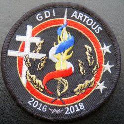 insigne tissu de la promotion GDI Artous  écusson tissé diamètre 8,5 cm sur scratch