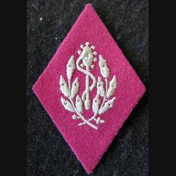 LOSANGE DE BRAS MODÈLE 45 :  personnel non officier (avant 1960) du Service de santé militaire fil doré
