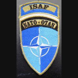 Insigne tissu de l'ISAF NATO OTAN sur scratch