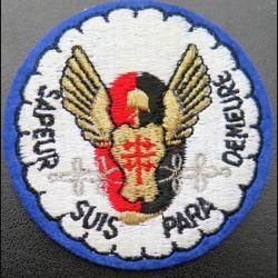 17° RGP : insigne tissu de la 1° compagnie de combat du 17° RGP avec hongroise