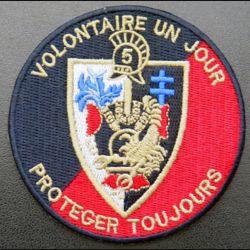 2° RG : insigne du 2° régiment du génie 5° Cie ? de diamètre 8 cm