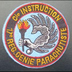 17° RGP : insigne tissu de la compagnie d'instruction du 17° RGP diamètre 10  cm