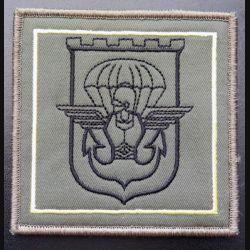 17° RGP : insigne tissu de la 3° compagnie du 17° RGP 10 x 10 cm sur scratch