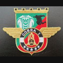 17° RGP : insigne tissé Unité COBRA 1 du 17° régiment du génie parachutiste Barkhane 2014 doré