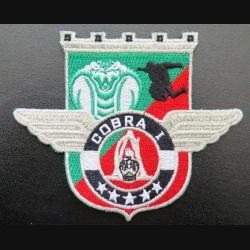 17° RGP : insigne tissé Unité COBRA 1 du 17° régiment du génie parachutiste Barkhane 2014 argenté