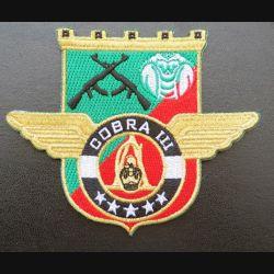 17° RGP : insigne tissé Unité COBRA III du 17° RGP Barkhane Niger Tchad 2015 doré