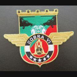 17° RGP : insigne tissé Unité COBRA VI du 17° RGP Barkhane Tchad 2015 - 2016 doré