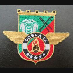 17° RGP : insigne tissé Unité COBRA IX du 17° RGP Barkhane Mali 2016 - 2017 doré