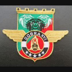17° RGP : insigne tissé Unité COBRA XVI du 17° RGP Barkhane Mali 2019 doré
