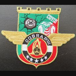 17° RGP : insigne tissé Unité COBRA XVIII du 17° RGP Barkhane Mali 2019-2020 doré