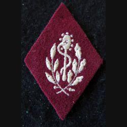 LOSANGE DE BRAS MODÈLE 45 :  auxiliaire sanitaire troupe (variante) du Service de santé des armées