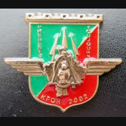 17° RGP : Compagnie d'appui du 17° RGP au Kosovo KFOR 2002 bronze massif n° 184