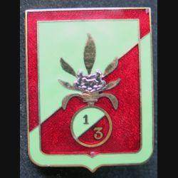 3° REI : 1° Bataillon du 3° régiment étranger d'infanterie Arthus Bertrand en émail retirage non marqué