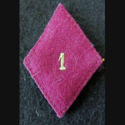 LOSANGE DE BRAS MODÈLE 45 : sous officier 1° section d'infirmiers militaires du service santé militaire Paris