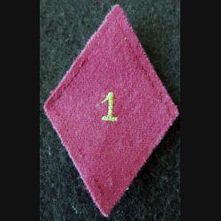 LOSANGE DE BRAS MODÈLE 45 : 1° SIM sous officier 1° section d'infirmiers militaires du service santé militaire Paris