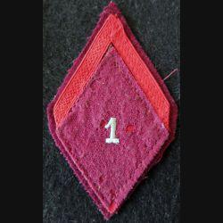 LOSANGE DE BRAS MODÈLE 45 : 1° SIM 1° classe de la 1° section d'infirmiers militaires du service santé militaire