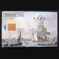 télécarte 5 unités Brest 1996 neuve sous blister