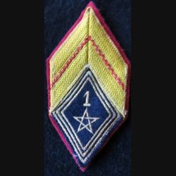 LOSANGE DE BRAS MODÈLE 45 :  caporal 1° régiment de spahis marocain FFA