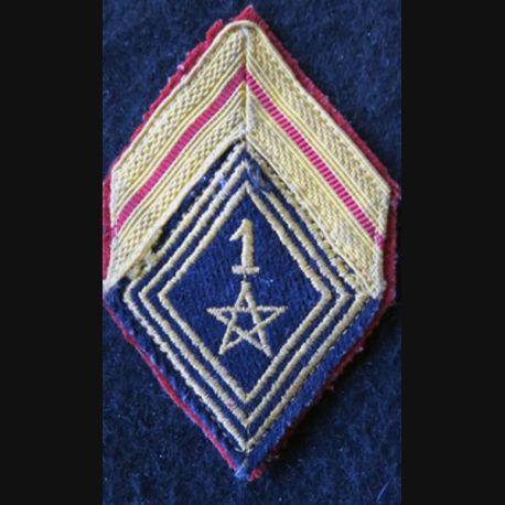 LOSANGE DE BRAS MODÈLE 45 :  caporal 1° régiment de spahis marocain AFN