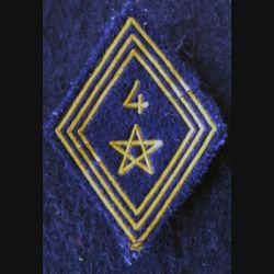 LOSANGE DE BRAS MODÈLE 45 : modèle troupe 4° régiment de spahis marocain de la 4° DIM AFN