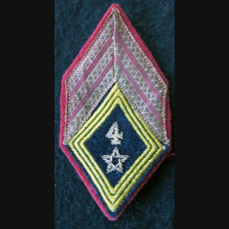 LOSANGE DE BRAS MODÈLE 45 : sergent chef du 4° régiment de spahis marocain de la 4° DIM AFN cannetille