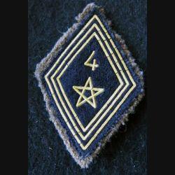 LOSANGE DE BRAS MODÈLE 45 :  modèle troupe 4° régiment de spahis marocain AFN