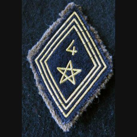 LOSANGE DE BRAS MODÈLE 45 :  modèle troupe 4° régiment de spahis marocain FFA