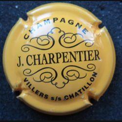 Capsule Muselet de bouteille de champagne J. Charpentier jaune d'or