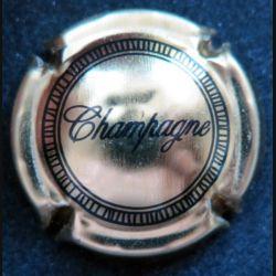 Capsule Muselet de bouteille de champagne dorée
