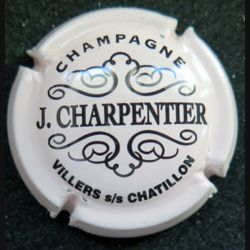 Capsule Muselet de bouteille de champagne J. Charpentier rosé crème