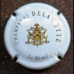 Capsule Muselet de bouteille de champagne Delamotte bleu gris clair