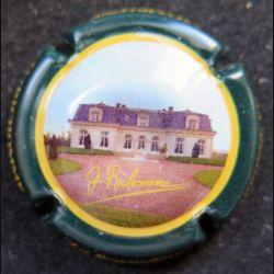 Capsule Muselet de bouteille de champagne G. Richomme contour vert foncé
