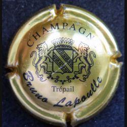 Capsule Muselet de bouteille de champagne Bruno Lapoulle or et noir