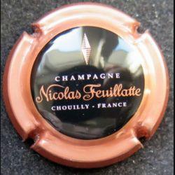 Capsule Muselet de bouteille de champagne Nicolas Feuillatte rose et noir
